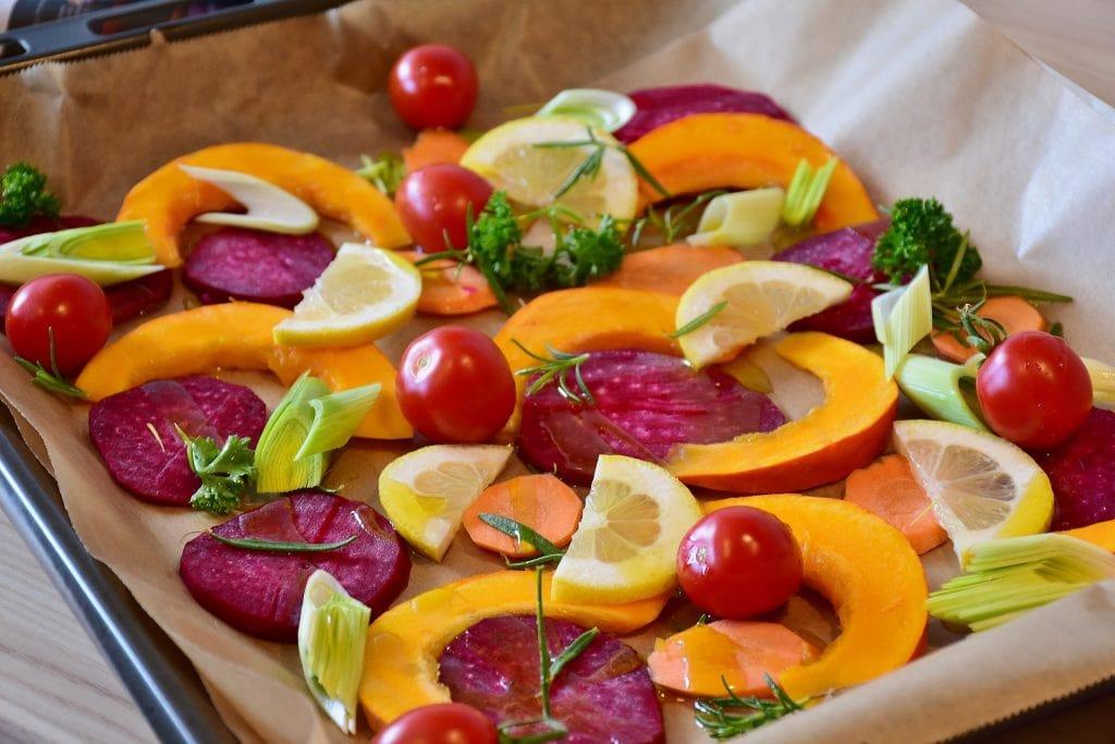 Spicy roast veg & lentils - mental health