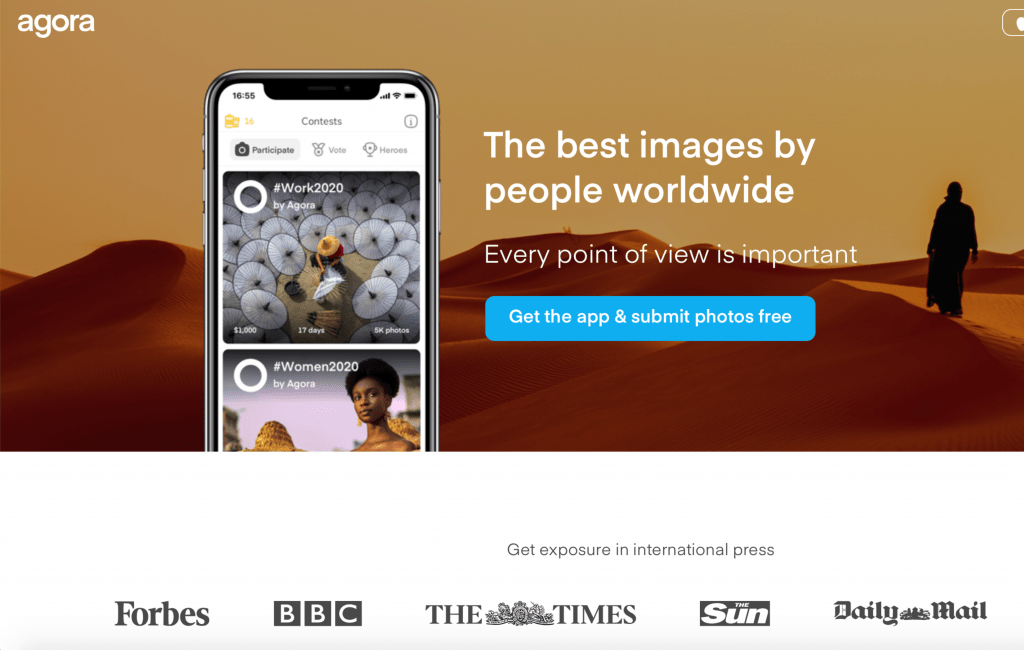 Agora Images best apps to sell photos