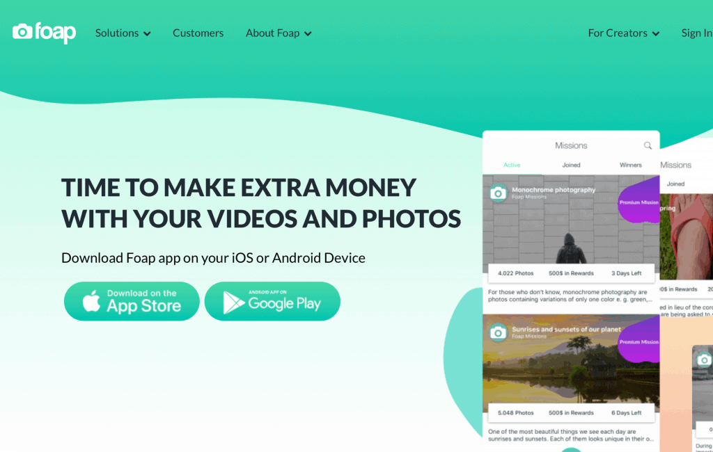 foap best apps to sell photos