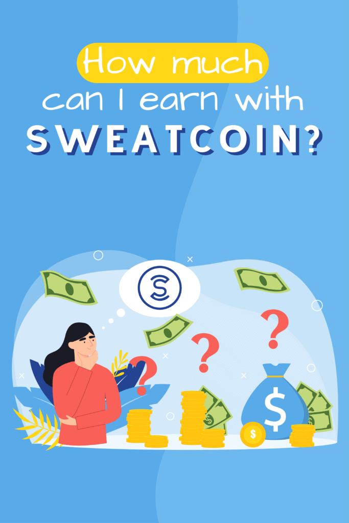 How much can I earn with Sweatcoin-Pinterest