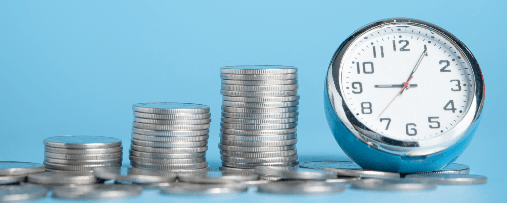 30-day rule clock on coins saving money