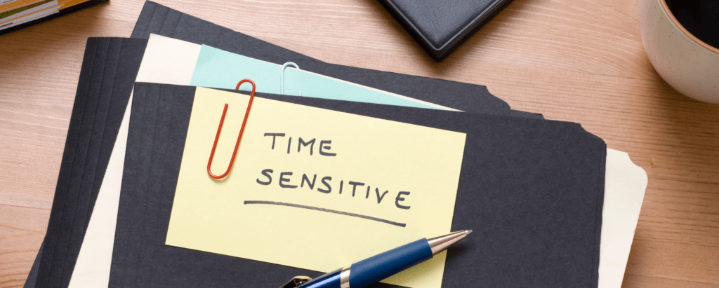 How To Handle Time Sensitive Purchases