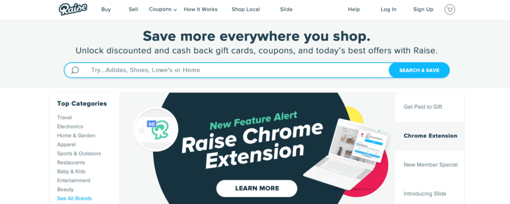 raise - PayPal money instantly