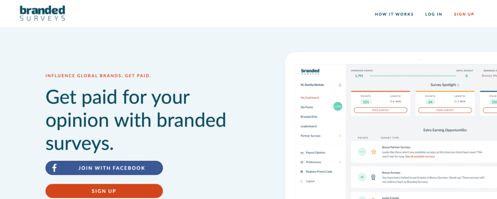 branded surveys - like swagbucks