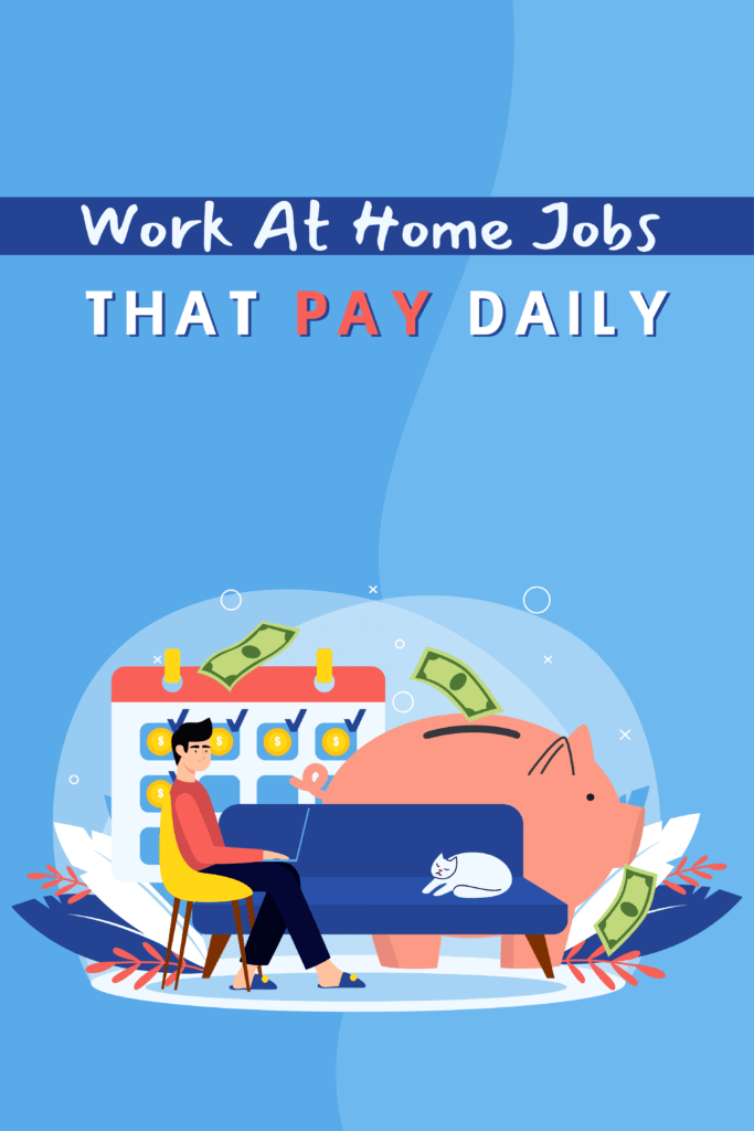 Work At Home Jobs That Pay Daily - Pinterest