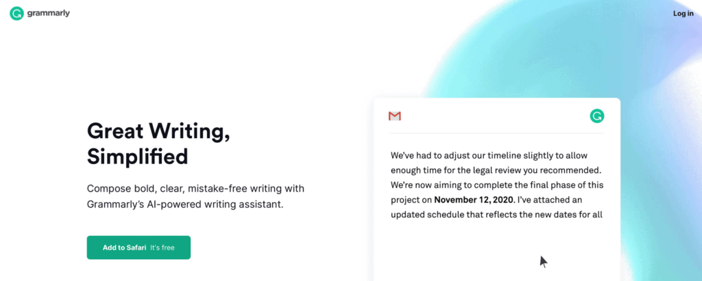 Grammarly - proofreading