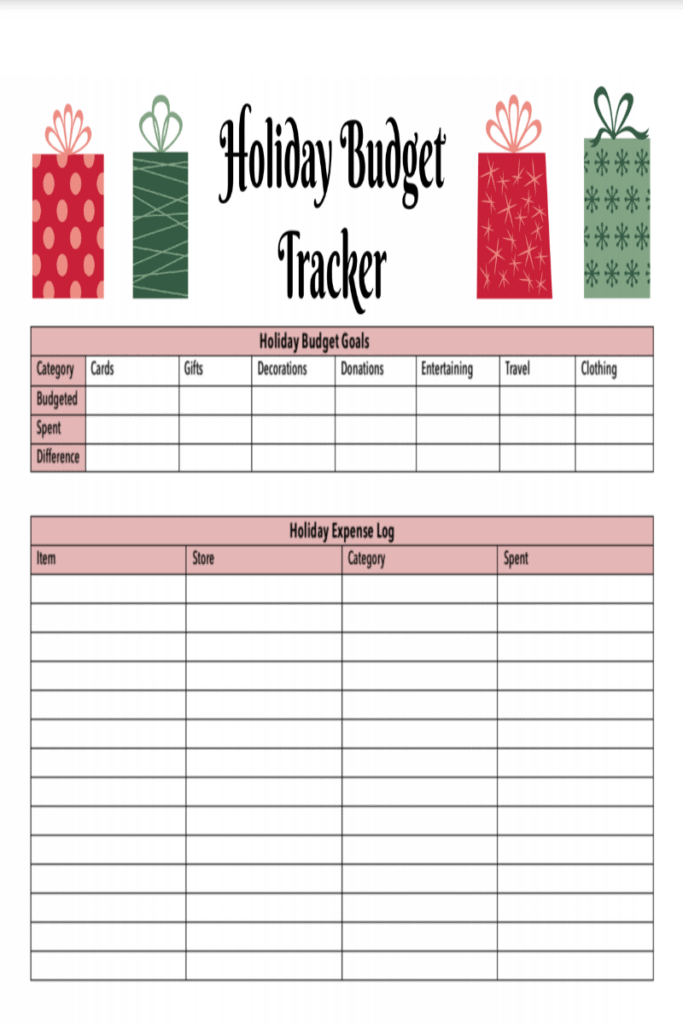 Mission To Save Holiday Budget Tracker