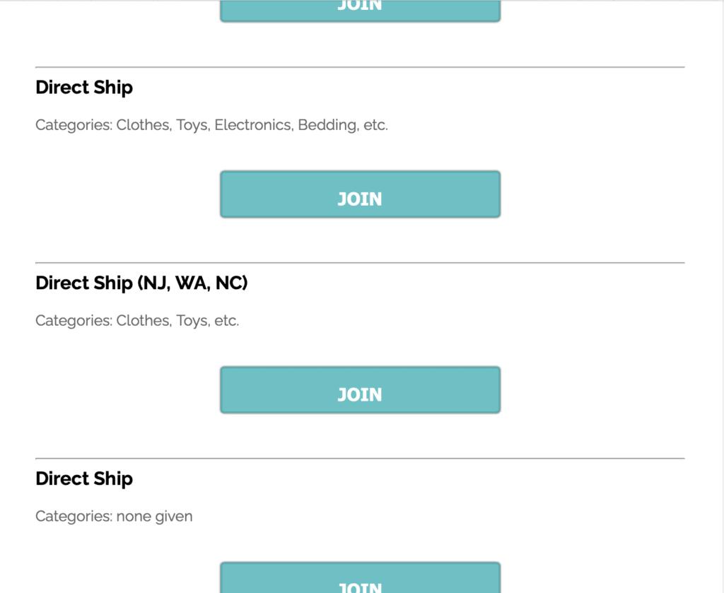 Gimmie Freebies list of Amazon Direct ship freebies