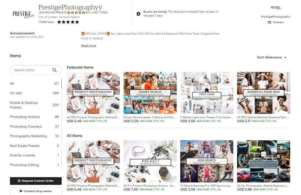 Setting prices for your Etsy shop