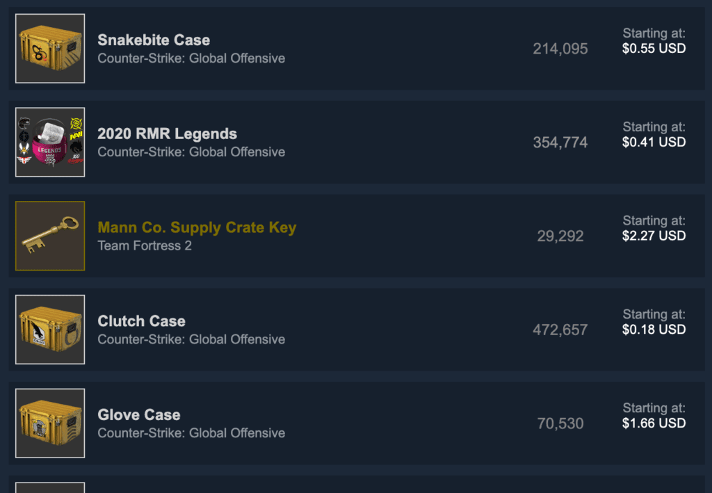 Flip In-Game Items to make money on Steam